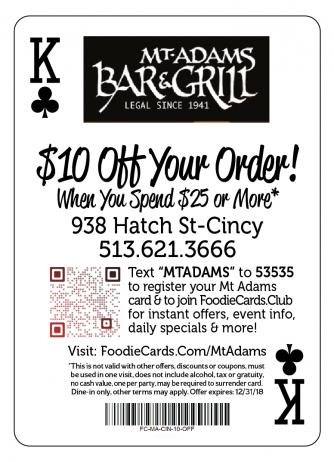 Mt Adams Bar & Grill Cincinnati