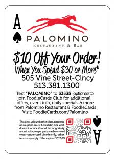 Palomino Restaurant FoodieCards