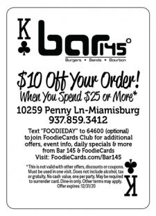 FoodieCards Dayton Bar 145