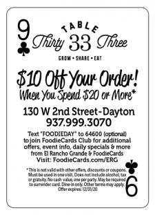 FoodieCards Dayton Table 33