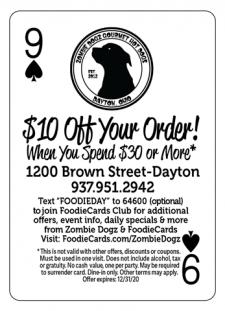 FoodieCards Dayton Zombie Dogs