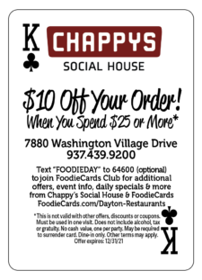 FoodieCards Dayton Chappys Social House